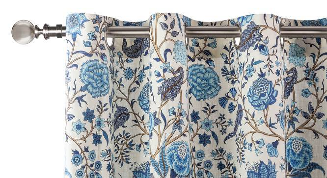 """Calico Curtains - Set of 2 (54""""x84"""" Curtain Size, Indigo - Floral Retreat  Pattern) by Urban Ladder"""
