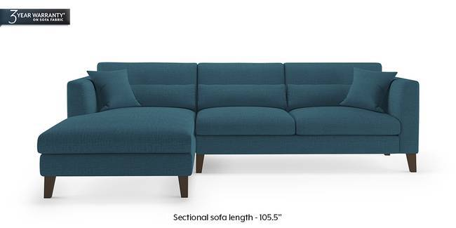 Lewis Sectional Sofa (Colonial Blue) (None Custom Set - Sofas, Right Aligned 3 seater + Chaise Standard Set - Sofas, Fabric Sofa Material, Regular Sofa Size, Sectional Sofa Type, Colonial Blue)
