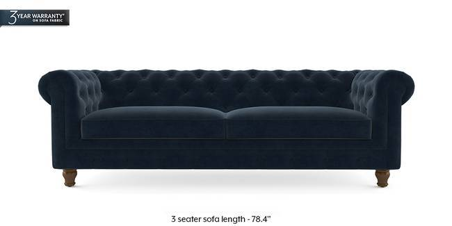 Winchester Fabric Sofa (Sea Port Blue Velvet) (2-seater Custom Set - Sofas, None Standard Set - Sofas, Fabric Sofa Material, Regular Sofa Size, Regular Sofa Type, Sea Port Blue Velvet)