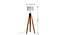 Havelock Floor Lamp (Teak Base Finish, White Shade Finish) by Urban Ladder