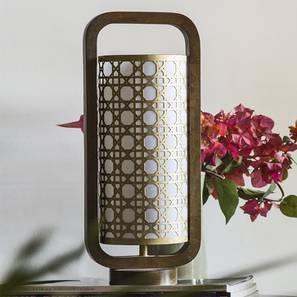Odessa Table Lamp (Light Walnut Base Finish) by Urban Ladder