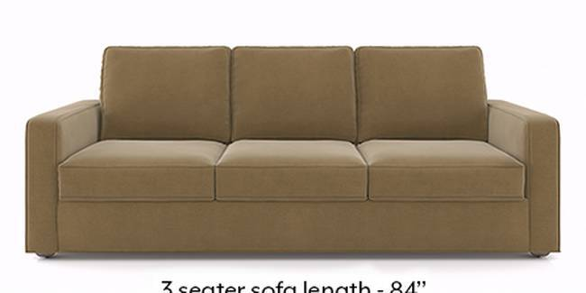 Apollo Sofa Set (Fabric Sofa Material, Compact Sofa Size, Soft Cushion Type, Regular Sofa Type, Master Sofa Component, Tuscan Tan Velvet)