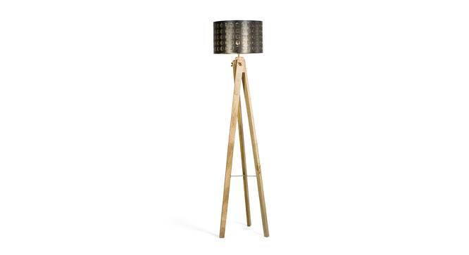Faya Floor Lamp (Black & Gold Shade Finish) by Urban Ladder