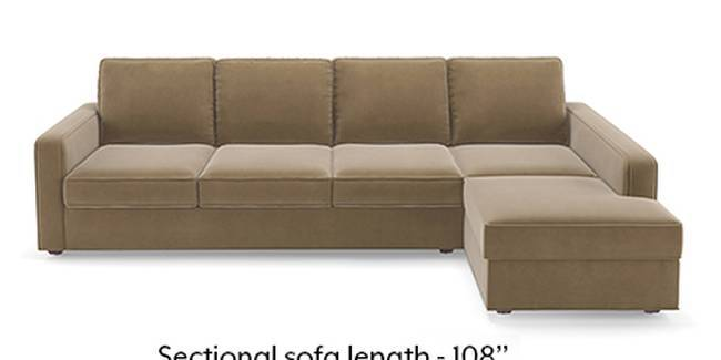 Apollo Sofa Set (Fabric Sofa Material, Compact Sofa Size, Soft Cushion Type, Sectional Sofa Type, Sectional Master Sofa Component, Tuscan Tan Velvet)