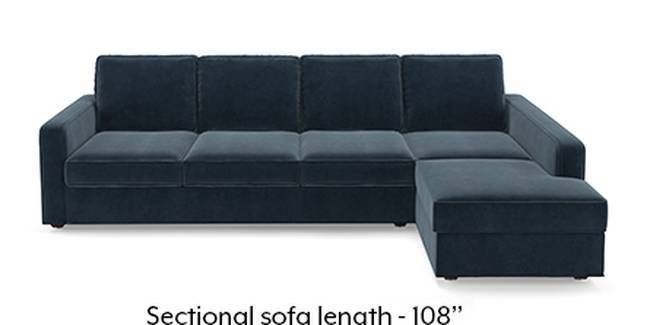 Apollo Sofa Set (Fabric Sofa Material, Compact Sofa Size, Soft Cushion Type, Sectional Sofa Type, Sectional Master Sofa Component, Sea Port Blue Velvet)