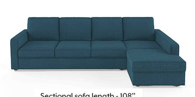 Apollo Sofa Set (Fabric Sofa Material, Regular Sofa Size, Soft Cushion Type, Sectional Sofa Type, Sectional Master Sofa Component, Colonial Blue)