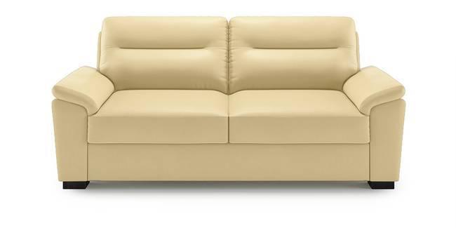 Adelaide Leatherette Sofa (Cream) (Cream, 1-seater Custom Set - Sofas, None Standard Set - Sofas, Leatherette Sofa Material, Compact Sofa Size, Soft Cushion Type, Regular Sofa Type)