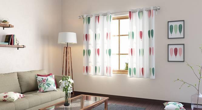 "Frangipani Curtain - Set of 2 (54"" x 60"" Curtain Size, Blush - Three Of Leaves Pattern) by Urban Ladder"