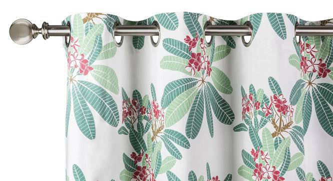 "Frangipani Curtain - Set of 2 (54""x84"" Curtain Size, Blush - Summer Blooms  Pattern) by Urban Ladder"