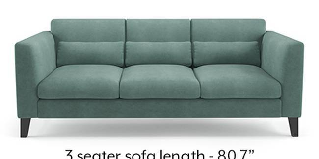 Lewis Sofa (Fabric Sofa Material, Regular Sofa Size, Soft Cushion Type, Regular Sofa Type, Master Sofa Component, Dusty Turquoise Velvet)
