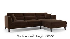 Lewis Sectional Sofa (Dark Earth)