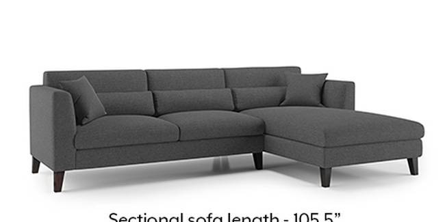 Lewis Sofa (Steel Grey, Fabric Sofa Material, Regular Sofa Size, Soft Cushion Type, Sectional Sofa Type, Sectional Master Sofa Component)