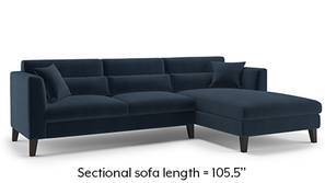 Lewis Sectional Sofa (Sea Port Blue Velvet)