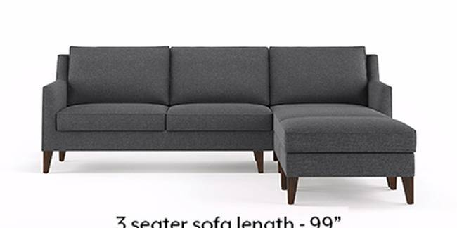Greenwich Sofa (Steel Grey, Fabric Sofa Material, Regular Sofa Size, Soft Cushion Type, Sectional Sofa Type, Sectional Master Sofa Component)