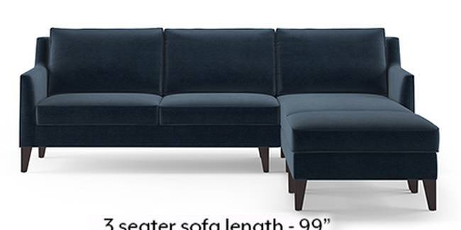 Greenwich Sofa (Fabric Sofa Material, Regular Sofa Size, Soft Cushion Type, Sectional Sofa Type, Sectional Master Sofa Component, Sea Port Blue Velvet)