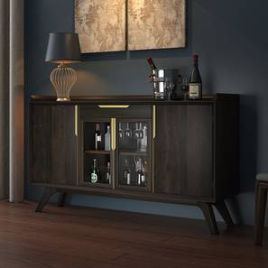 Taarkashi Bar Unit (American Walnut Finish) by Urban Ladder