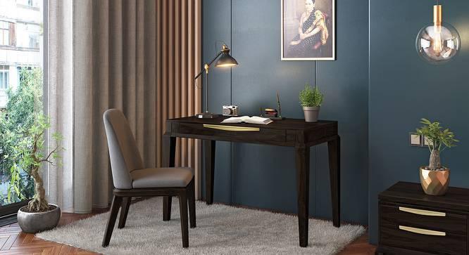 Taarkashi Study Table (American Walnut Finish) by Urban Ladder