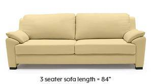 Farina Half Leather Sofa (Cream Italian Leather)