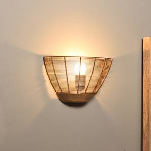 Wall lights urban ladder tupelo wall lamp gold shade finish by urban ladder aloadofball Images