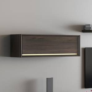 Taarkashi Wall Mounted Display Unit (American Walnut Finish, Horizontal Configuration) by Urban Ladder
