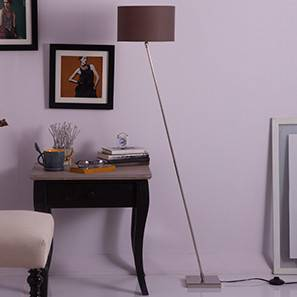 Sway Adjustable Floor Lamp (Shiny Nickel Base Finish, Cylindrical Shade Shape, Grey  Shade Color)