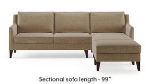 Greenwich Sectional Sofa (Safari Brown)