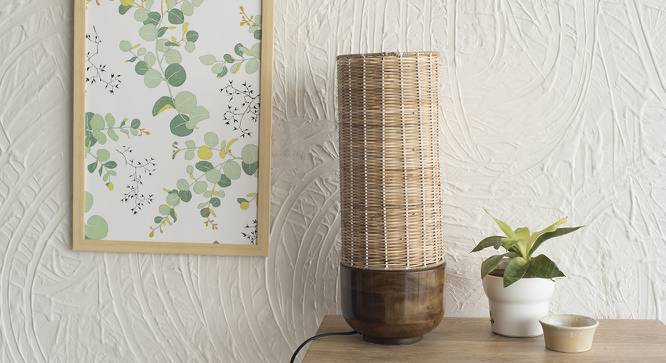 Lander Table Lamp (Walnut Shade Finish) by Urban Ladder