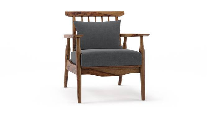 Ikeda Armchair (Teak Finish, Smoke) by Urban Ladder