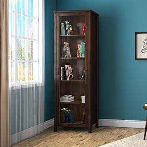 Norland Bookshelf (50-book capacity) (Dark Walnut Finish) by Urban Ladder
