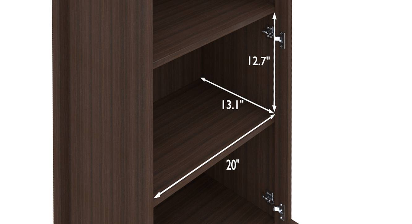 Norland book shelf dark walnut 8