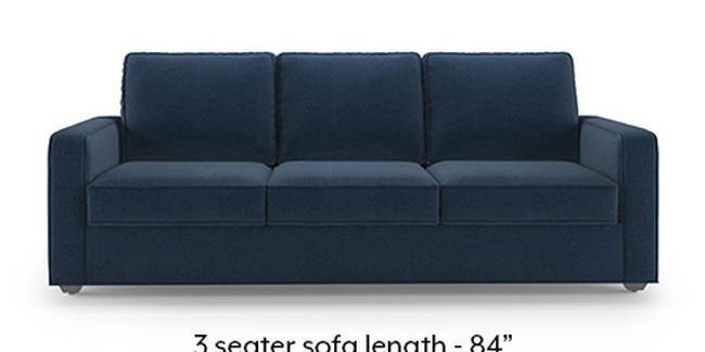 Apollo Sofa Set (Fabric Sofa Material, Regular Sofa Size, Soft Cushion Type, Regular Sofa Type, Master Sofa Component, Lapis Blue)
