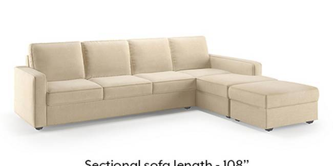 Apollo Sofa Set (Fabric Sofa Material, Regular Sofa Size, Soft Cushion Type, Sectional Sofa Type, Sectional Master Sofa Component, Birch Beige)