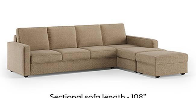 Apollo Sofa Set (Fabric Sofa Material, Regular Sofa Size, Soft Cushion Type, Sectional Sofa Type, Sectional Master Sofa Component, Safari Brown)