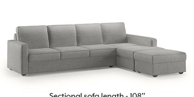 Apollo Sofa Set (Fabric Sofa Material, Regular Sofa Size, Soft Cushion Type, Sectional Sofa Type, Sectional Master Sofa Component, Vapour Grey)