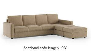 Apollo Sectional Compact Sofa (Safari Brown)