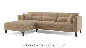 Lewis Sectional Sofa (Safari Brown)
