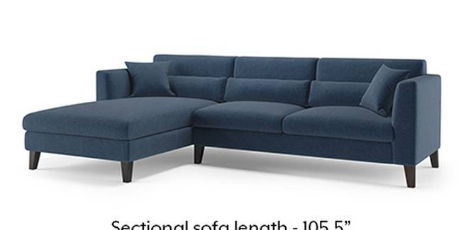 Lewis Sofa (Fabric Sofa Material, Regular Sofa Size, Soft Cushion Type, Sectional Sofa Type, Sectional Master Sofa Component, Lapis Blue)