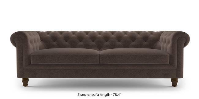 Winchester Fabric Sofa (Daschund Brown) (1-seater Custom Set - Sofas, None Standard Set - Sofas, Fabric Sofa Material, Regular Sofa Size, Regular Sofa Type, Daschund Brown)