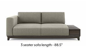 Taarkashi Sofa With Integrated Side Table (Gainsboro Beige)