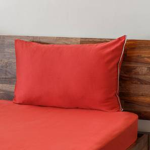 Serena 300 TC Sateen Bedsheet Set (Rust Red, Single Size) by Urban Ladder