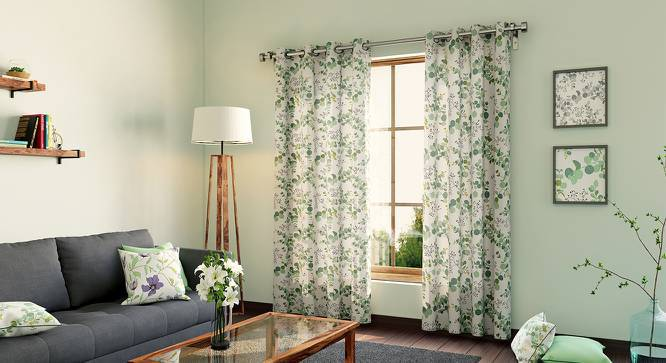 """Wilderness Curtain - Set Of 2 (54""""x84"""" Curtain Size, Branching Free Pattern) by Urban Ladder"""