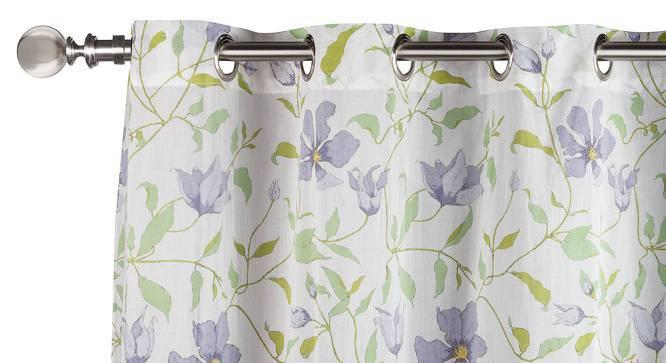 "Wilderness Curtain - Set Of 2 (54"" x 60"" Curtain Size, Purple Clematis Pattern) by Urban Ladder"