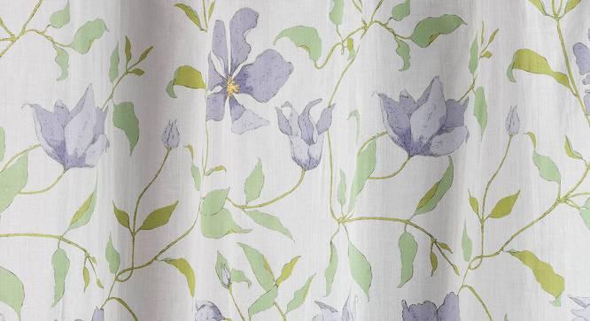 "Wilderness Curtain - Set Of 2 (54"" x 108"" Curtain Size, Purple Clematis Pattern) by Urban Ladder"