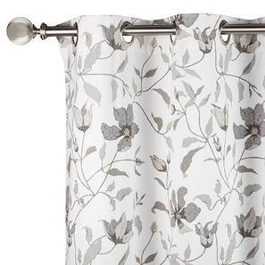 "Wilderness Curtain - Set Of 2 (Window Curtain Type, 54"" x 60"" Curtain Size, Grey Clematis) by Urban Ladder"