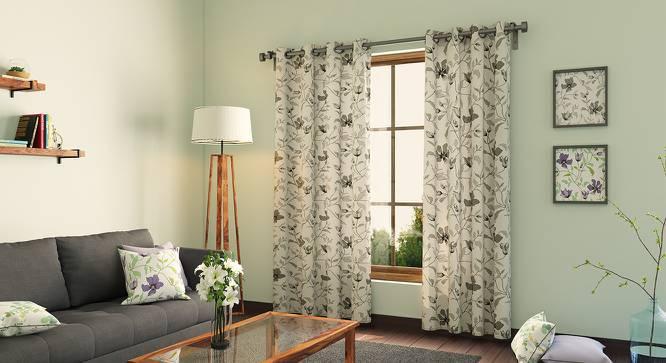 "Wilderness Curtain - Set Of 2 (Door Curtain Type, 54""x84"" Curtain Size, Grey Clematis) by Urban Ladder"