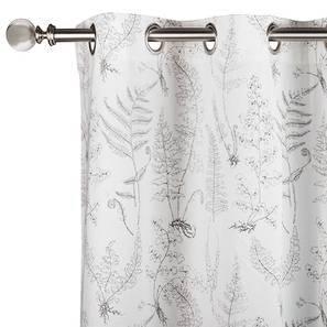 """Wilderness Curtain - Set Of 2 (Door Curtain Type, 54"""" x 108"""" Curtain Size, Wild Fern Grey) by Urban Ladder"""