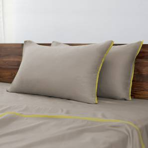 Serena 300 TC Sateen Bedsheet Set (King Size, Cement Grey) by Urban Ladder