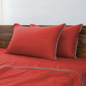 Serena 300 TC Sateen Bedsheet Set (Rust Red, Double Size) by Urban Ladder