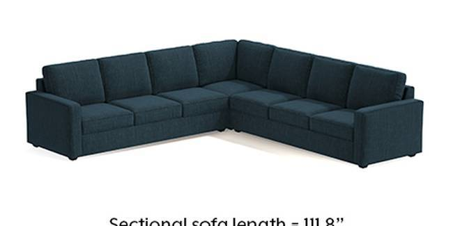Apollo Sofa Set (Indigo Blue, Fabric Sofa Material, Regular Sofa Size, Soft Cushion Type, Corner Sofa Type, Corner Master Sofa Component)