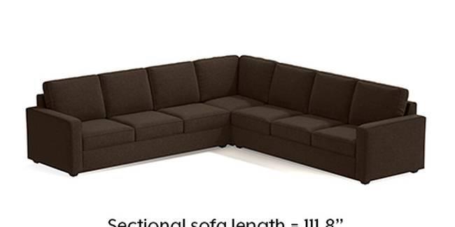 Apollo Sofa Set (Mocha, Fabric Sofa Material, Regular Sofa Size, Soft Cushion Type, Corner Sofa Type, Corner Master Sofa Component)